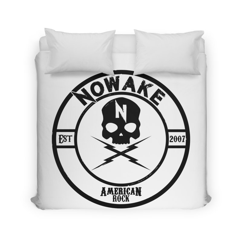 NOWAKE American Rock (in black) Home Duvet by NOWAKE's Artist Shop