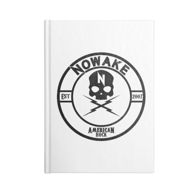 NOWAKE American Rock (in black) Accessories Lined Journal Notebook by NOWAKE's Artist Shop