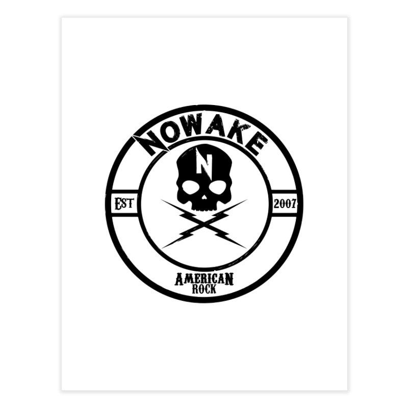 NOWAKE American Rock (in black) Home Fine Art Print by NOWAKE's Artist Shop