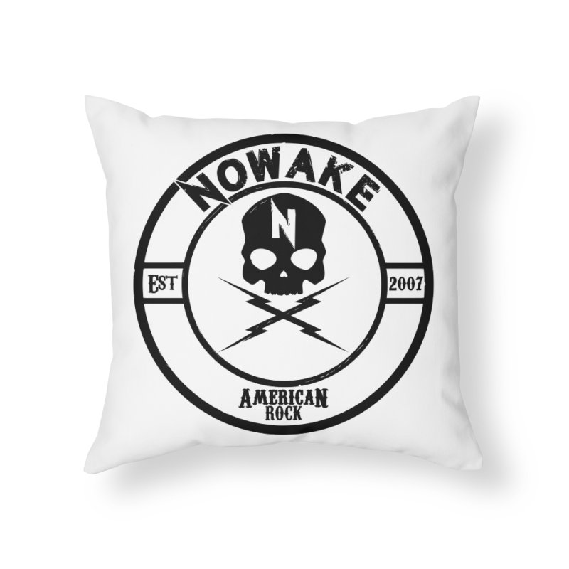 NOWAKE American Rock (in black) Home Throw Pillow by NOWAKE's Artist Shop