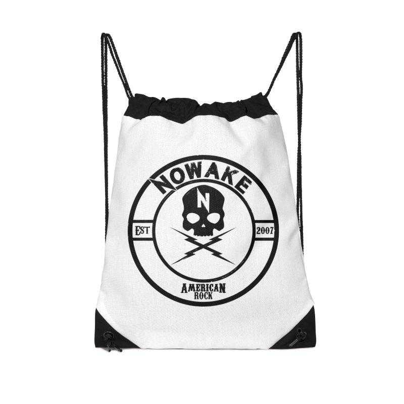 NOWAKE American Rock (in black) Accessories Drawstring Bag Bag by NOWAKE's Artist Shop