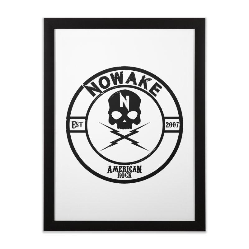 NOWAKE American Rock (in black) Home Framed Fine Art Print by NOWAKE's Artist Shop
