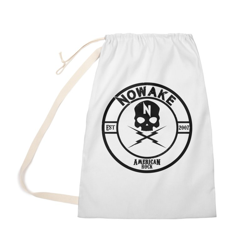 NOWAKE American Rock (in black) Accessories Laundry Bag Bag by NOWAKE's Artist Shop