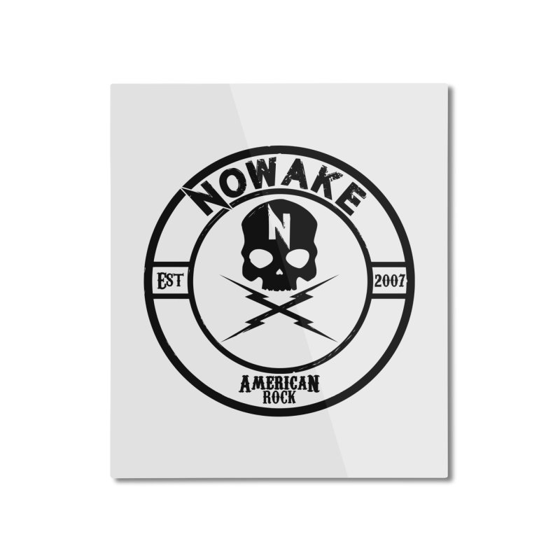 NOWAKE American Rock (in black) Home Mounted Aluminum Print by NOWAKE's Artist Shop