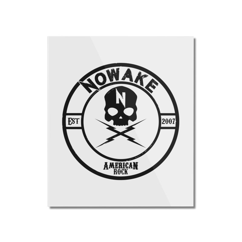 NOWAKE American Rock (in black) Home Mounted Acrylic Print by NOWAKE's Artist Shop