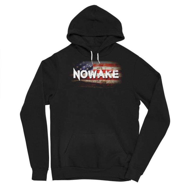 NOWAKE Classic American Flag Men's Pullover Hoody by NOWAKE's Artist Shop