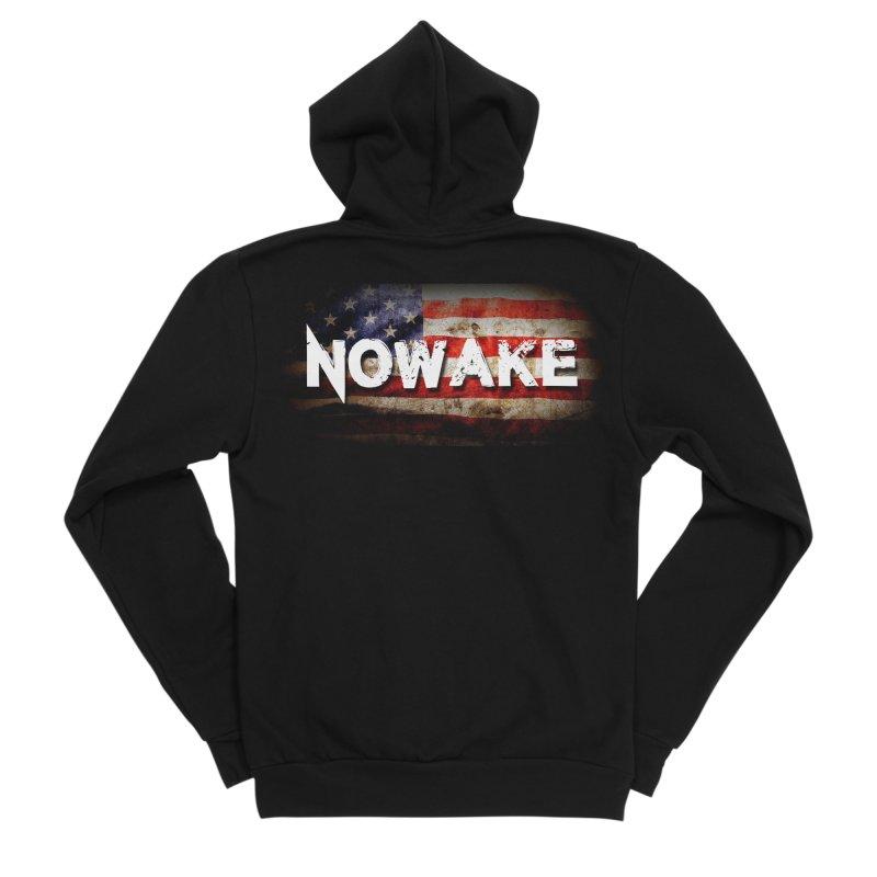 NOWAKE Classic American Flag Women's Zip-Up Hoody by NOWAKE's Artist Shop