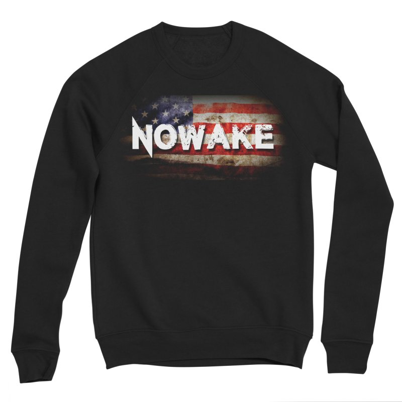 NOWAKE Classic American Flag Women's Sponge Fleece Sweatshirt by NOWAKE's Artist Shop