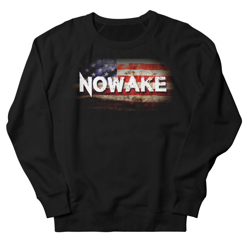 NOWAKE Classic American Flag Women's French Terry Sweatshirt by NOWAKE's Artist Shop