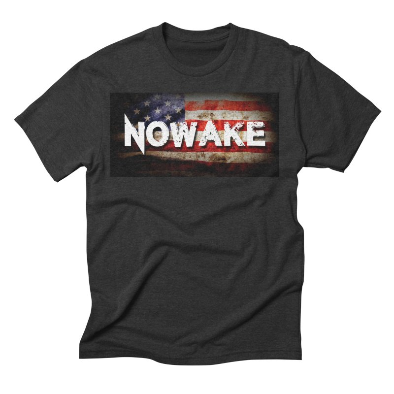 NOWAKE Classic American Flag Men's Triblend T-Shirt by NOWAKE's Artist Shop