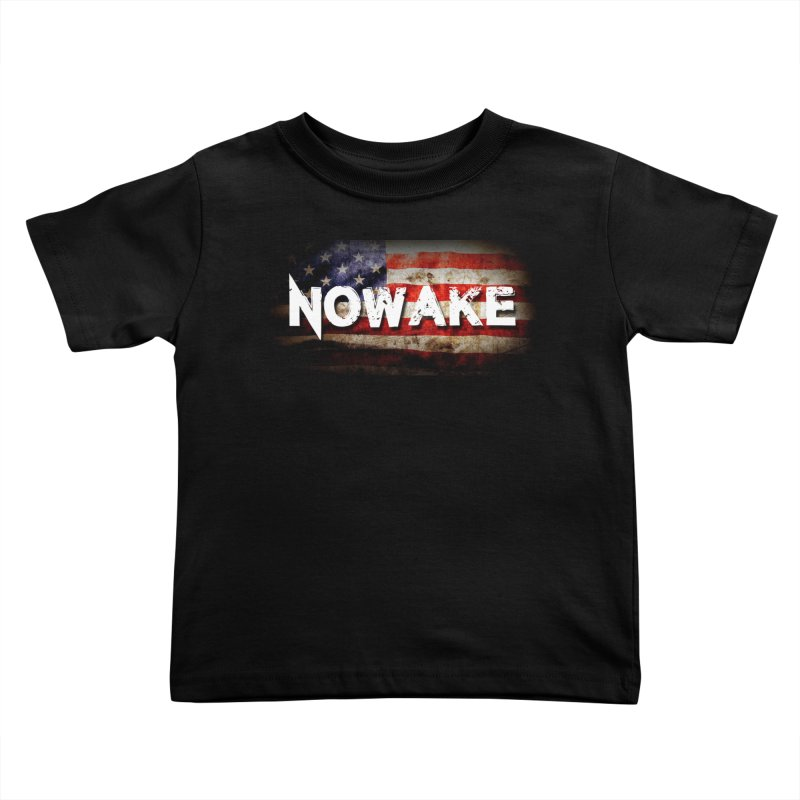 NOWAKE Classic American Flag Kids Toddler T-Shirt by NOWAKE's Artist Shop