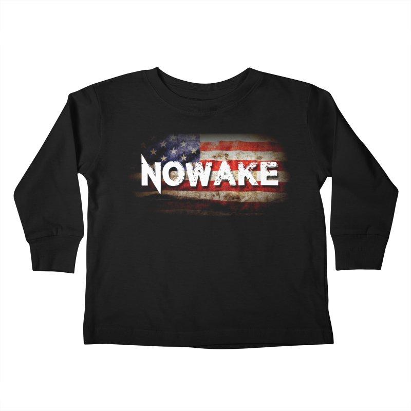 NOWAKE Classic American Flag Kids Toddler Longsleeve T-Shirt by NOWAKE's Artist Shop