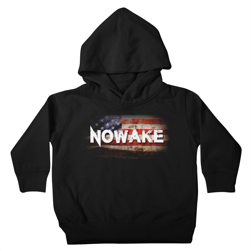 NOWAKE Classic American Flag Kids Toddler Pullover Hoody by NOWAKE's Artist Shop