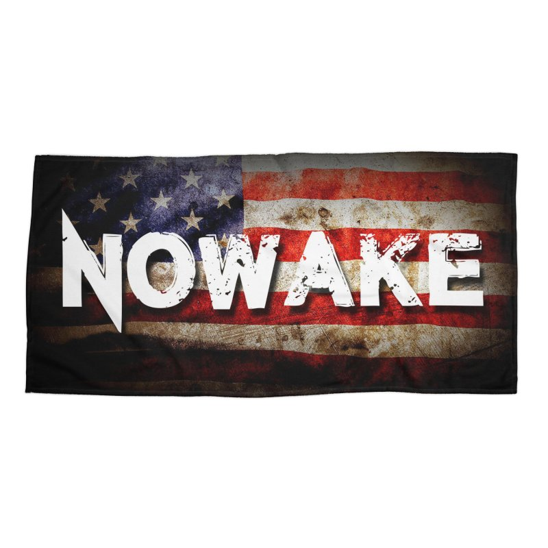 NOWAKE Classic American Flag Accessories Beach Towel by NOWAKE's Artist Shop