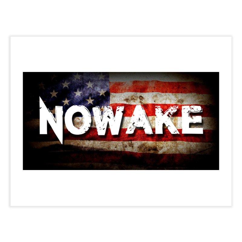 NOWAKE Classic American Flag Home Fine Art Print by NOWAKE's Artist Shop