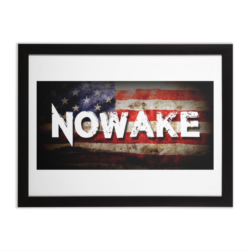 NOWAKE Classic American Flag Home Framed Fine Art Print by NOWAKE's Artist Shop