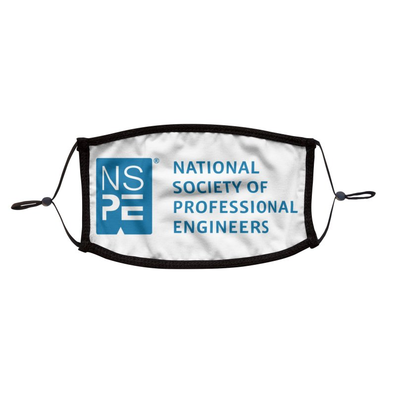 NSPE Stacked Logo Accessories Face Mask by National Society of Professional Engineers