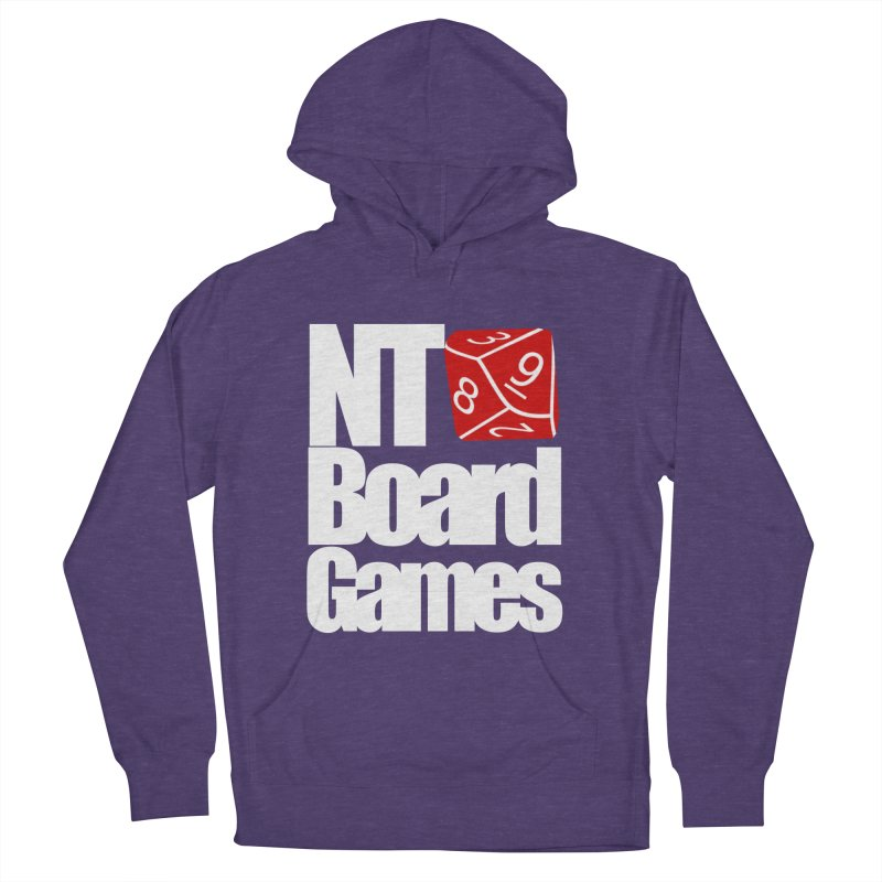 Logo with White Letters Men's French Terry Pullover Hoody by NTBoardGames Store