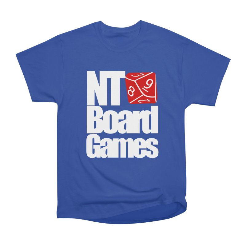Logo with White Letters Women's Heavyweight Unisex T-Shirt by NTBoardGames Store