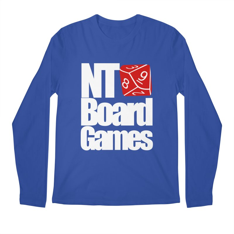 Logo with White Letters Men's Regular Longsleeve T-Shirt by NTBoardGames Store