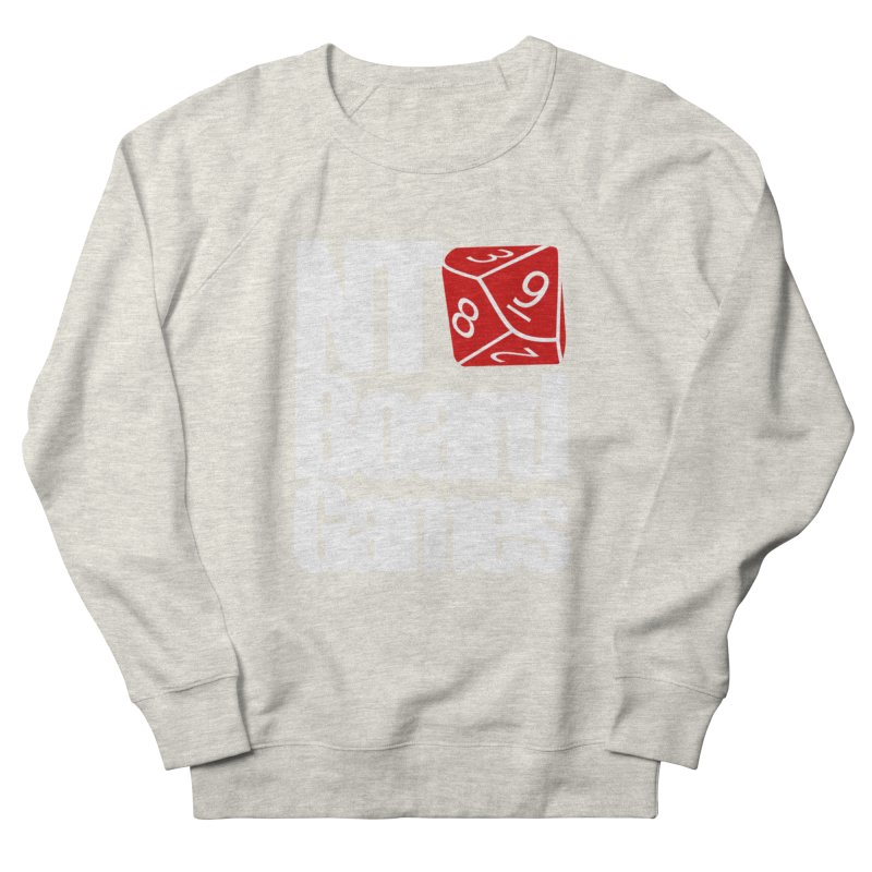 Logo with White Letters Men's French Terry Sweatshirt by NTBoardGames Store