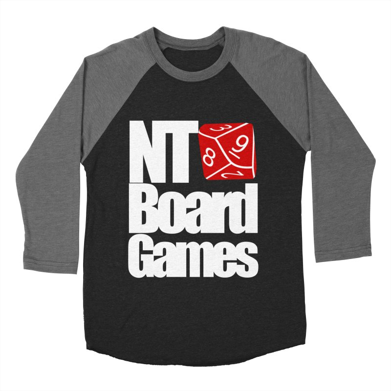 Logo with White Letters Men's Baseball Triblend Longsleeve T-Shirt by NTBoardGames Store