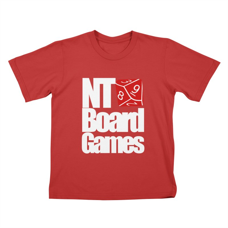 Logo with White Letters Kids T-Shirt by NTBoardGames Store