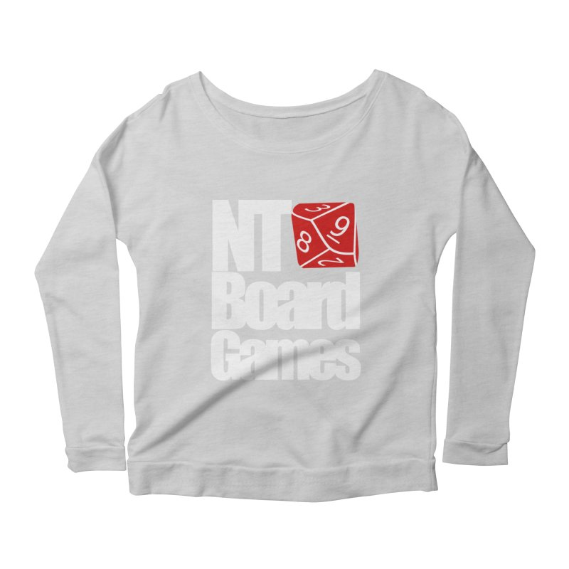 Logo with White Letters Women's Scoop Neck Longsleeve T-Shirt by NTBoardGames Store