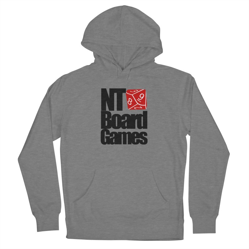 Logo with Black Letters Men's French Terry Pullover Hoody by NTBoardGames Store