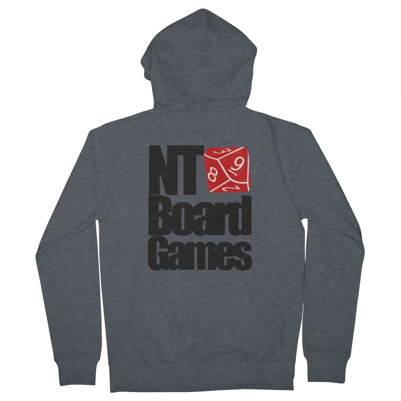 Logo with Black Letters Women's French Terry Zip-Up Hoody by NTBoardGames Store
