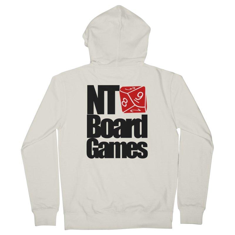 Logo with Black Letters Men's French Terry Zip-Up Hoody by NTBoardGames Store