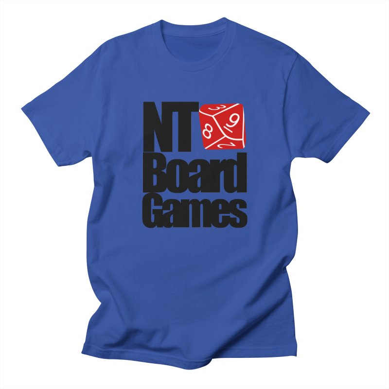 Logo with Black Letters Men's Regular T-Shirt by NTBoardGames Store