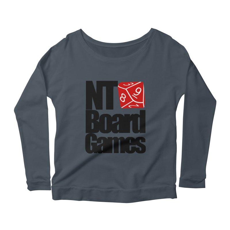 Logo with Black Letters Women's Scoop Neck Longsleeve T-Shirt by NTBoardGames Store
