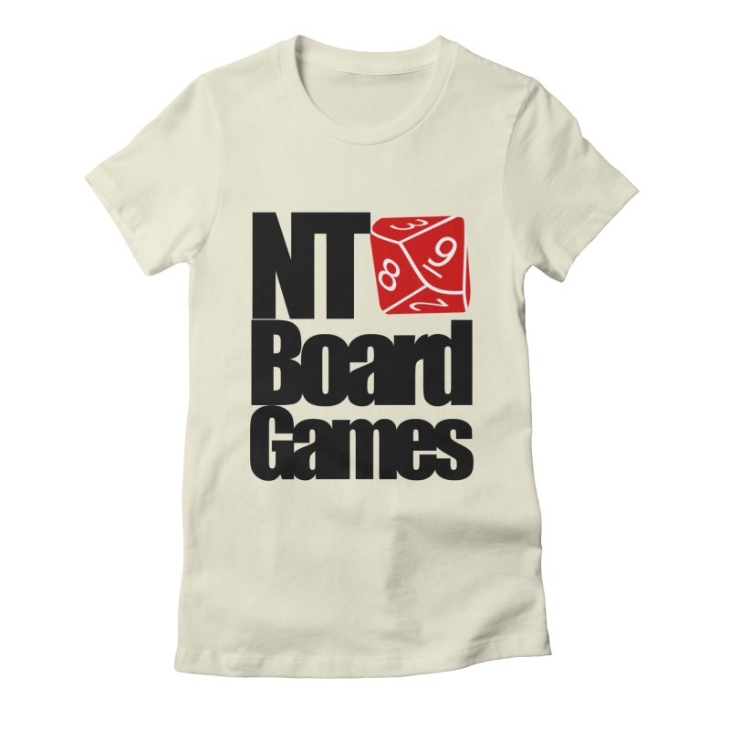 Logo with Black Letters Women's Fitted T-Shirt by NTBoardGames Store