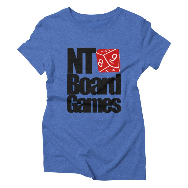 Logo with Black Letters Women's Triblend T-Shirt by NTBoardGames Store