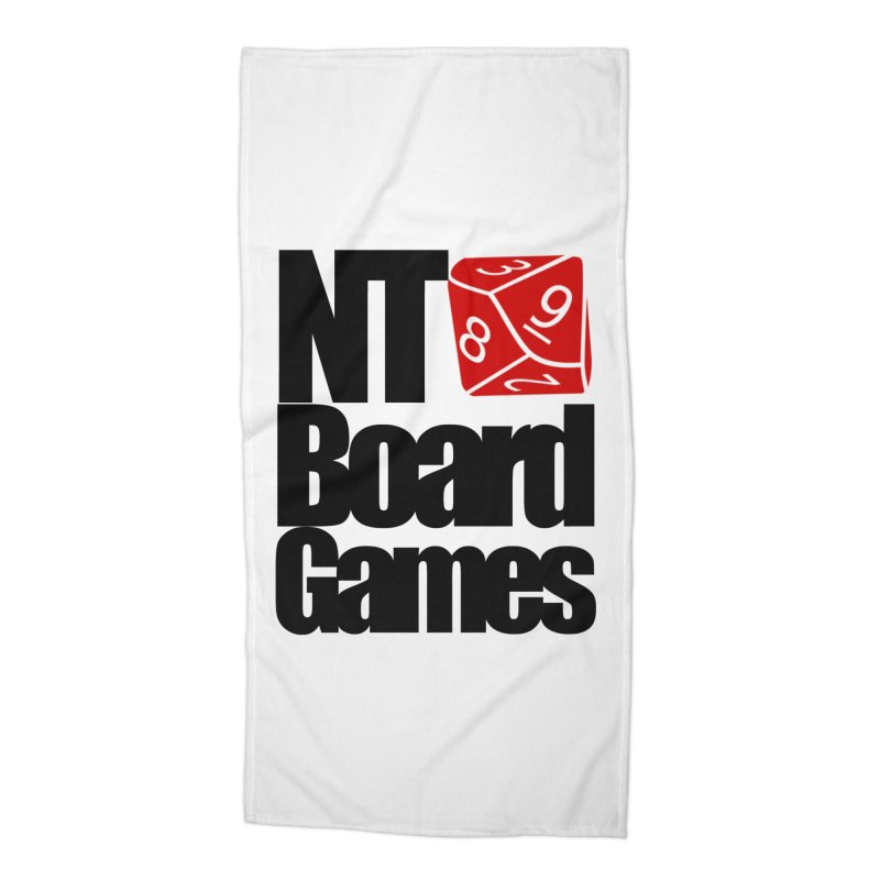 Logo with Black Letters Accessories Beach Towel by NTBoardGames Store