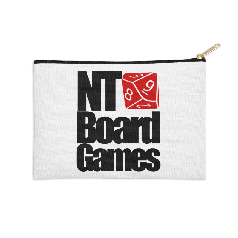 Logo with Black Letters Accessories Zip Pouch by NTBoardGames Store