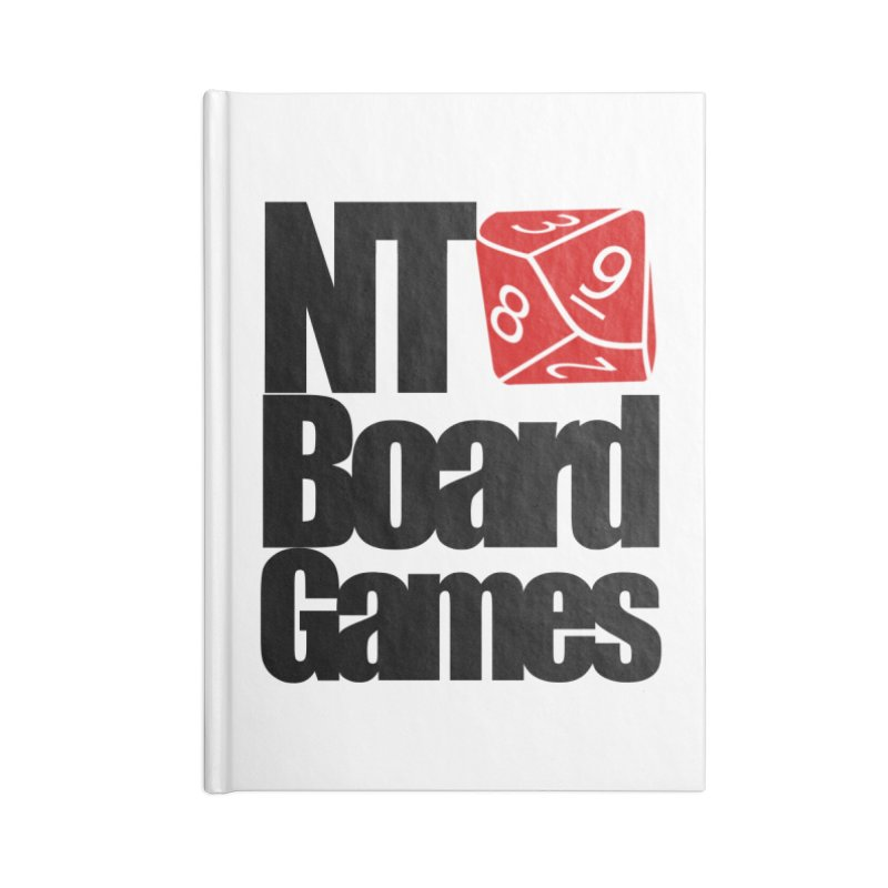Logo with Black Letters Accessories Lined Journal Notebook by NTBoardGames Store