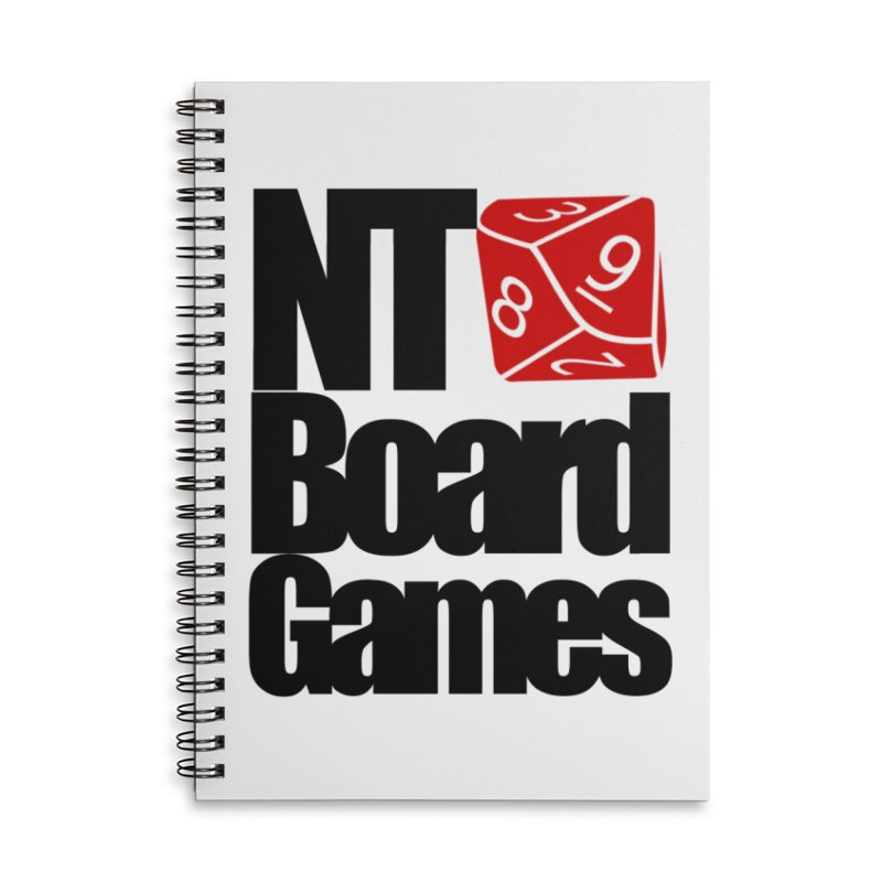 Logo with Black Letters in Lined Spiral Notebook by NTBoardGames Store