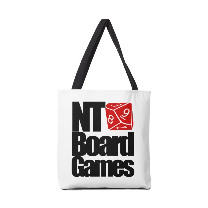 Logo with Black Letters Accessories Tote Bag Bag by NTBoardGames Store