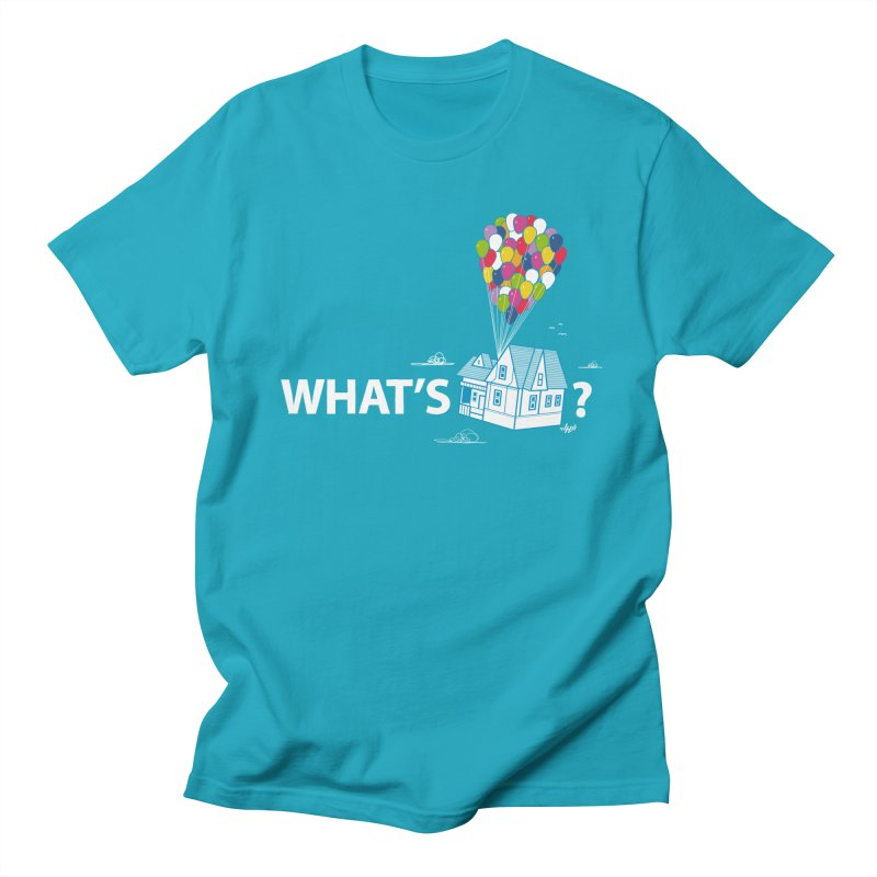 What's Up in Men's T-Shirt Cyan by Nabhan's Artist Shop