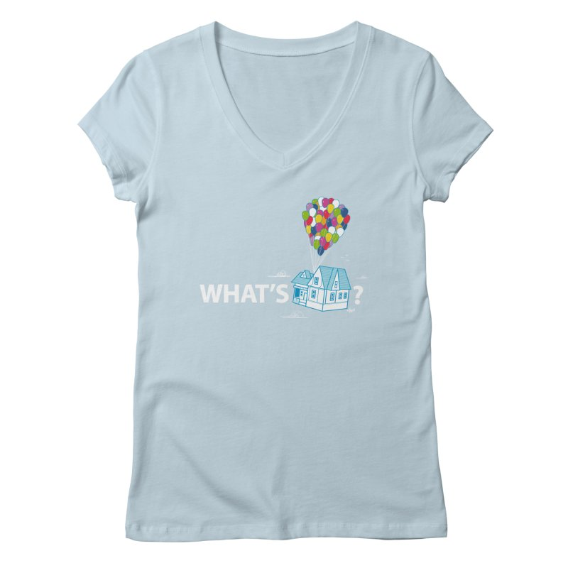 What's Up Women's V-Neck by Nabhan's Artist Shop
