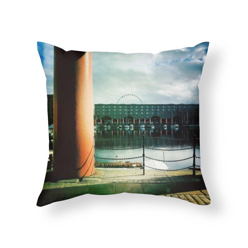 Albert Dock Home Throw Pillow by NadineMorgan's Artist Shop