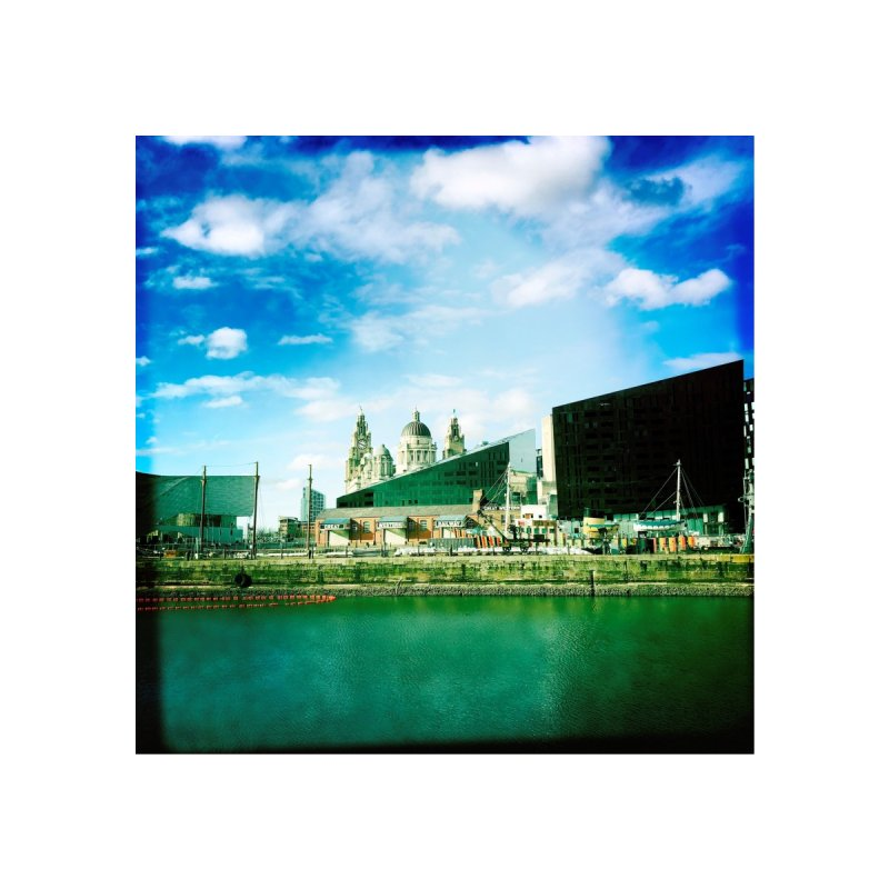 Pier Head, Liverpool Home Tapestry by NadineMorgan's Artist Shop