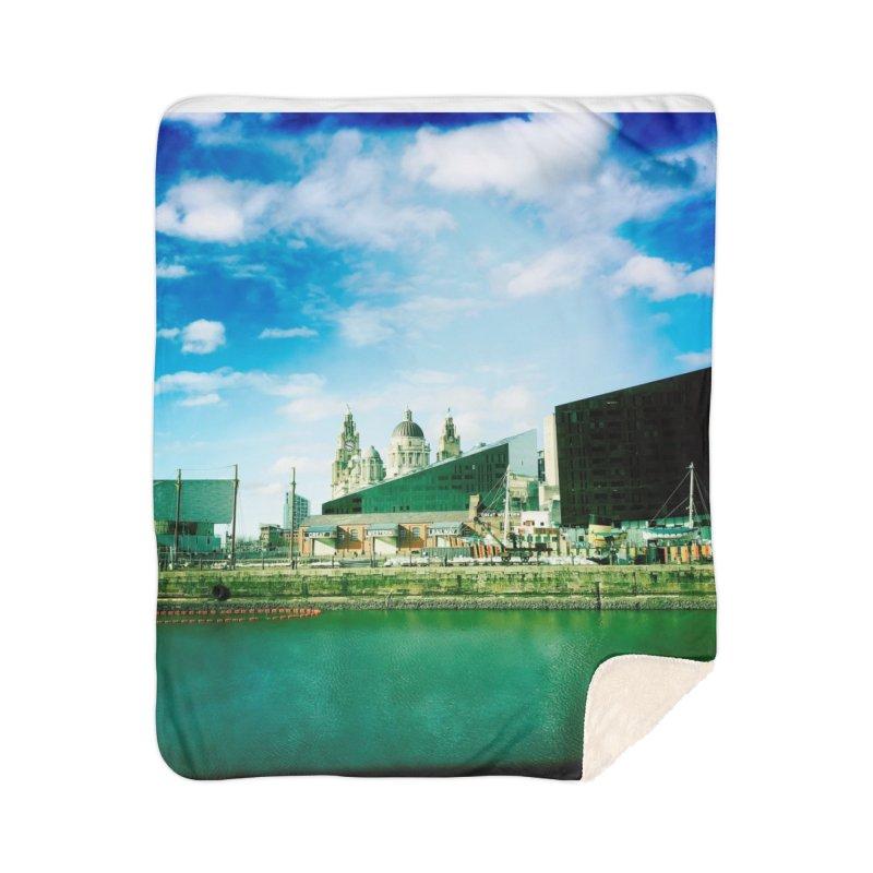Pier Head, Liverpool Home Blanket by NadineMorgan's Artist Shop