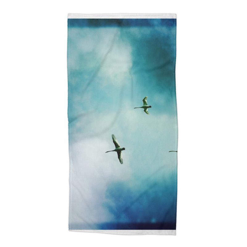 Birds In Flight Accessories Beach Towel by NadineMorgan's Artist Shop