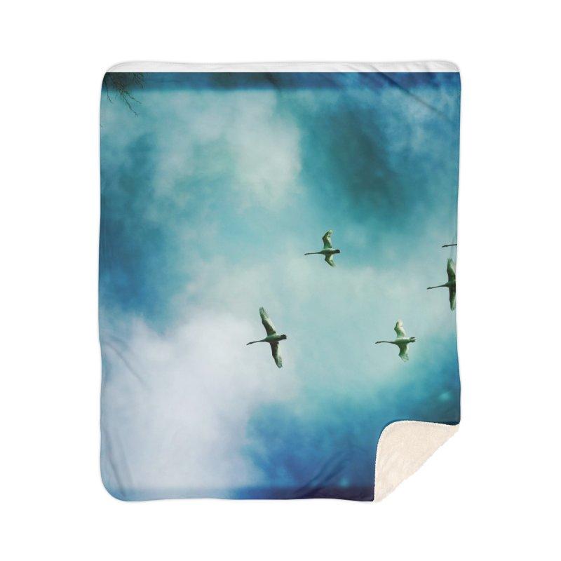 Birds In Flight Home Blanket by NadineMorgan's Artist Shop