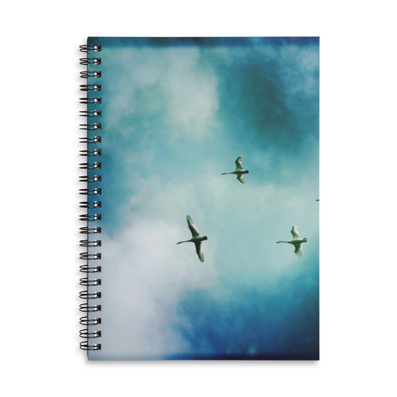 Birds In Flight Accessories Notebook by NadineMorgan's Artist Shop
