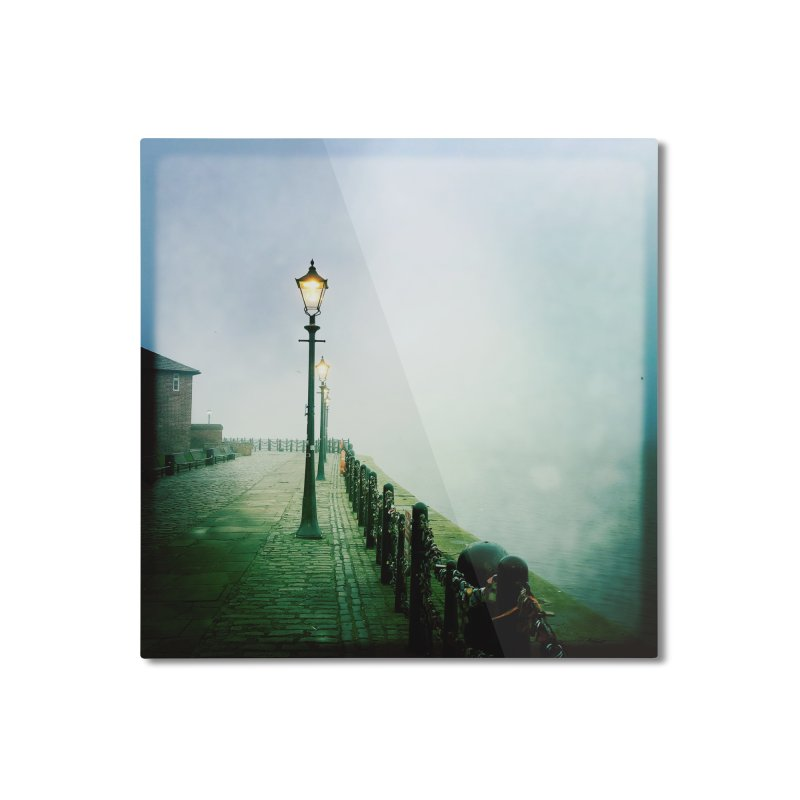 Light In The Fog Home Mounted Aluminum Print by NadineMorgan's Artist Shop