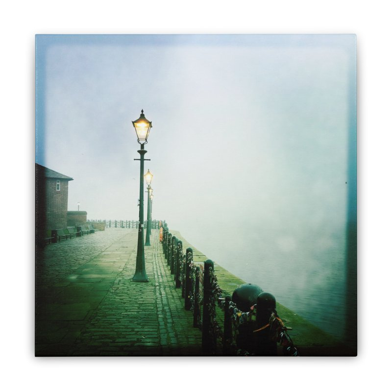 Light In The Fog Home Stretched Canvas by NadineMorgan's Artist Shop